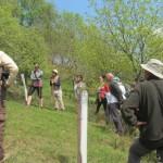 Propietarios de custodia de LIFE Miera visitando la Finca reforestada de El Cabañal