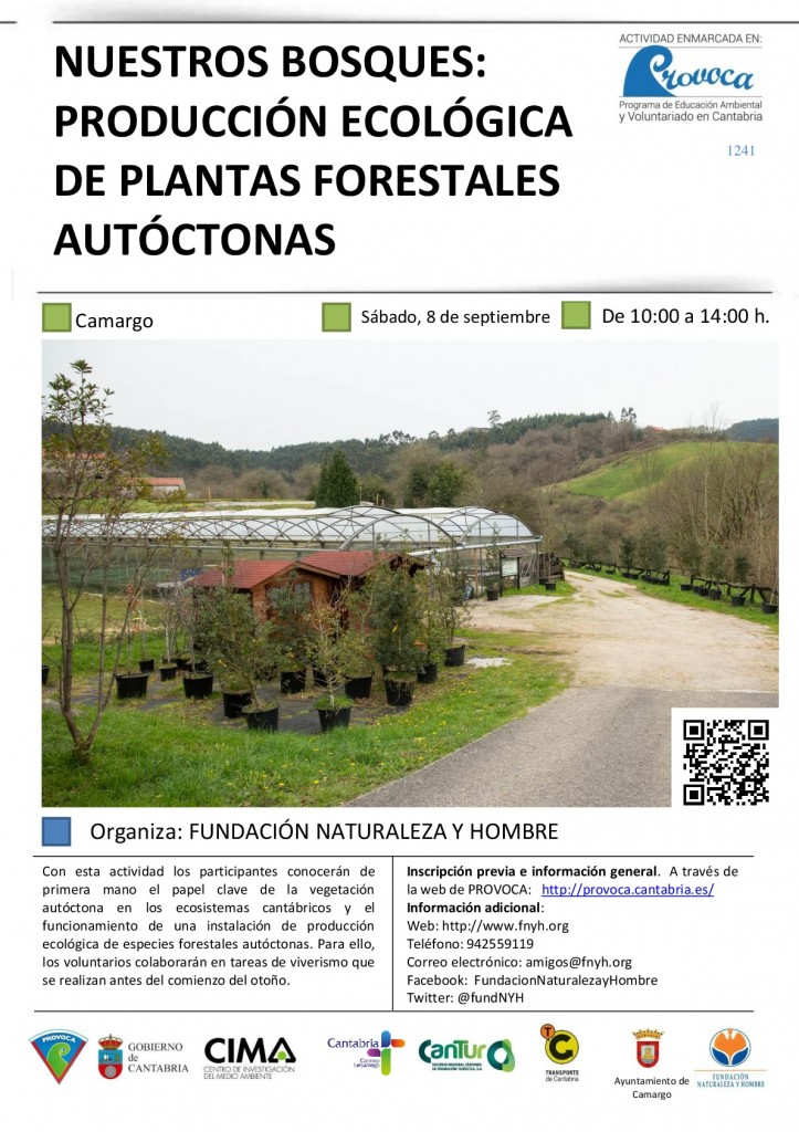 Cartel Voluntariado PROVOCA Nuestros Bosques