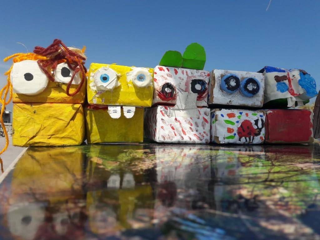 Marionetas fabricadas en el Taller de Reciclaje Infantil.